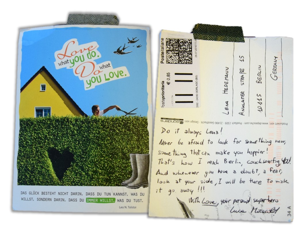 Postkarte zum Traumjob