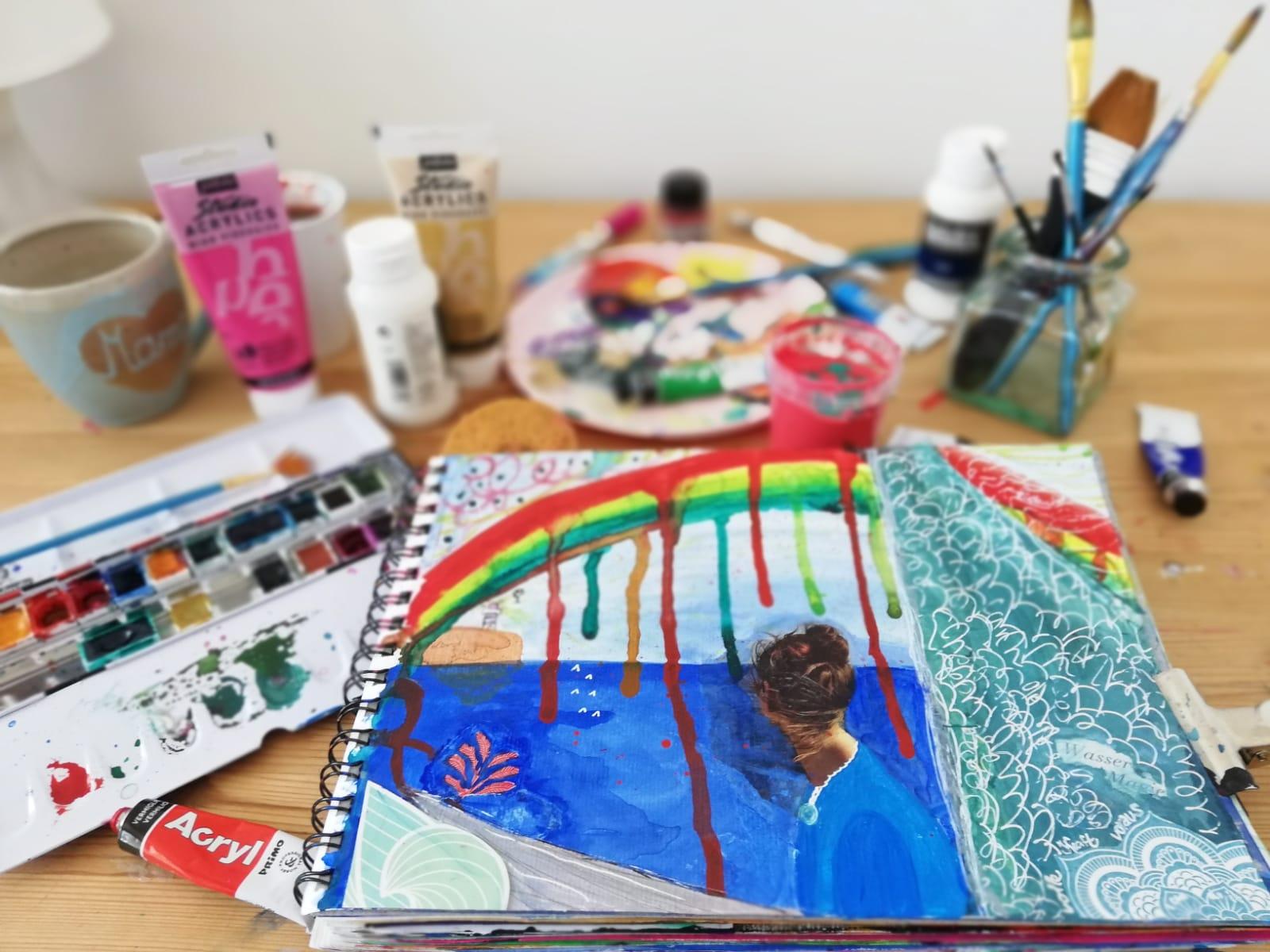 Wie du deine Kreativität wiederfinden kannst mit Art Journaling